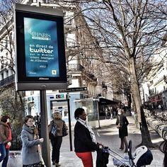 Twitter / Paris: Publiez vos tweets sur le panneau ...