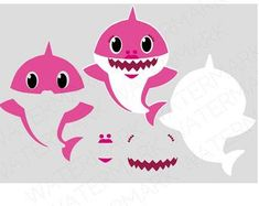 Shark Cutout Files for Cricut SVG and Silhouette Studio File 1st Birthday Parties, 2nd Birthday, Cricut Baby Shower, Shark Pictures, Shark Family, Shark Party, Baby Shark, Free Baby Stuff, Etsy