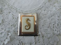 Vintage seahorse brooch 1920's by Nkempantiques on Etsy