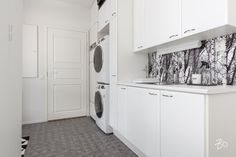 Washer And Dryer, Laundry Room, Entryway, Kitchen Cabinets, Home Appliances, Furniture, Home Decor, Laundry, Kitchen Cupboards