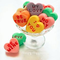 Hungry Happenings: Conversation Heart Fudge - A sweet Valentine's Day Candy Recipe