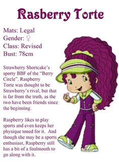 Strawberry Shortcake Characters, Vintage Strawberry Shortcake, Raspberry Torte, Old School Cartoons, Letter D, Character Costumes, Kids Shows, Blue Berry Muffins, Drawing Reference