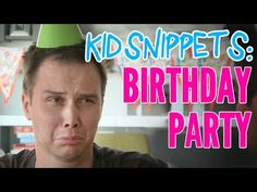 """Kid Snippets: """"Birthday Party"""" (Imagined by Kids) - YouTube"""