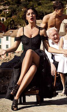 Monica Bellucci in Sicily / Dolce & Gabbana Dress