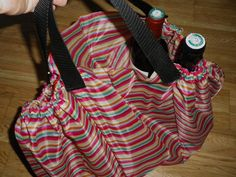 using umbrella fabric to make a waterproof bag!  For the next cheap umbrella that breaks.