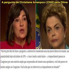 A pergunta de Christiane Amanpour [CNN] para Dilma ➤ https://twitter.com/camanpour/status/725408137579139072 ②⓪①⑥ ⓪④ ②⑧ #Impeachment