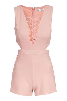 **Lace Up Playsuit by Glamorous Petites