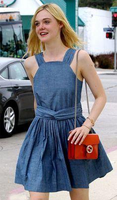Street style look Elle Fanning
