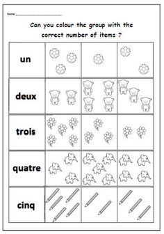 French Worksheets for Kids. 20 French Worksheets for Kids. French Worksheets, Number Worksheets, Teacher Worksheets, Worksheets For Kids, Printable Worksheets, Free Printable, French Flashcards, School Worksheets, Printables