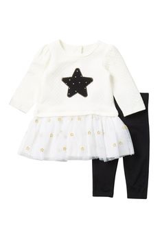 19e5ad53f16 Little Me - Star Tutu Top   Legging Set (Baby Girls) is now 50