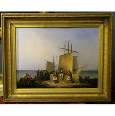 "Greek Revolution against the Turks.  Philhellenic Painting. Φιλελληνισμος.   Noel D. Finert (1797-1852)  ""French Mission to Morea"", c.a 1830's  Oil on canvas.   Dimensions: 48x65 cm"