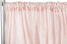 """Accordion Crinkle Taffeta 10ft H x 54"""" W Drape/Backdrop Panel - Blush/Rose Gold ● As Low as $19.99 ● Available from www.cvlinens.com"""
