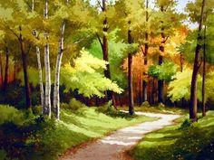 pintura em tela paisagens passo a passo - Pesquisa Google