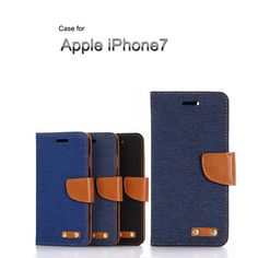 iPhone7 手帳型 ケース レザー デニム かっこいい ストラップホルダー おしゃれ アイフォン7 手帳型カバーIP7-CO04 - IT問屋直営本店
