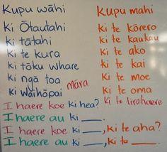 Springston Te Reo : Sentences: Kupu wāhi, kupu mahi