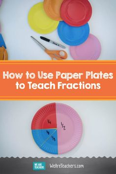 This Will Absolutely Be Your New Favorite Way to Teach Fractions. Paper plate fractions offer a fun, easy, and hands-on way for students to learn fractions. Use colorful paper plates to teach fractions to your students. Fraction Games, Fraction Activities, Math Resources, Math Games, Math Activities, Preschool Math, Learning Fractions, Math Fractions, Teaching Math