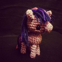 Baby Twilight Sparkle! I kinda threw this together as I went along so I'm rather pleased it turned out as well as it did. 😁    #mlp #mylittlepony #twilight #twilightsparkle #amigurumi #crochet #handmade #kawaii #cute #yarn