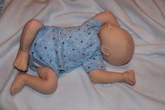 Realistic newborn cloth doll  cotton peach by EFamilyCreations