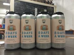 8 Days A Week American pale ale now canned from Beer'd Brewing Co.