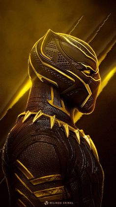 Marvel - Black Panther in Yellow Marvel Dc Comics, Marvel Heroes, Marvel Characters, Marvel Movies, Marvel Marvel, Black Panther Marvel, Black Panther Art, Black Panther Hd Wallpaper, Thanos Avengers