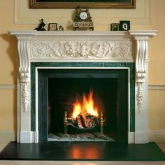 Fireplace in an Irish country house Irish Decor, Irish Cottage, City Living, Warm And Cozy, New Homes, House Styles, Modern, Country Houses, Panelling