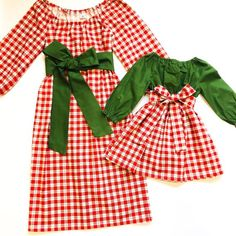 f35e6a4ea46a5 Plaid Matching Mother Daughter Dresses - Olive Mommy and Me Christmas  Dresses - Mommy and Me Outfits