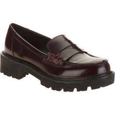 Momo Women's Oxford Loafer Slip On, Size: 11, Red