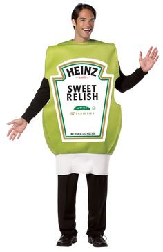 Heinz Relish Squeeze Bottle Adult Costume -One Size Fits Most Adults