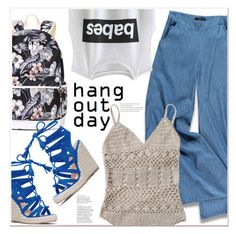 """""""Hang out day"""" by mycherryblossom ❤ liked on Polyvore featuring Forever 21"""