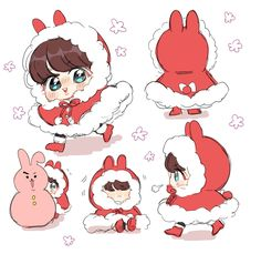 Read 🎀vkook🎀 from the story FANART BTS (lemon🍋/cute🎀) by Rinshi_Jikatoku (M) with reads. Bts Chibi, Anime Chibi, Bts Cute, Jungkook Cute, Kookie Bts, Fanart Bts, Jungkook Fanart, Fan Art, Bts Christmas