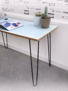 Beautiful Vintage Formica Baby Blue Table