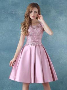 e7869d979 comprar Correas elegante Bowknot vestido rodilla vestido de Cóctel de encaje  Online