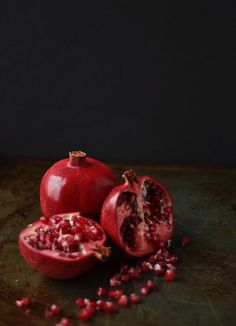 Food Photography: pomegranate | pomegranate . Granatapfel . grenade | Food. Art + Style. Photography: Food on black by Carrie @ flickr |
