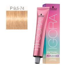 Schwarzkopf Professional Igora Royal Pearlescence Hair Color - Pastel Amber - P9.5-74 ** For more information, visit image link.