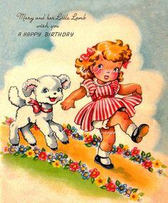 Etsy の Mary Had A Little Lamb Vintage Digital by poshtottydesignz