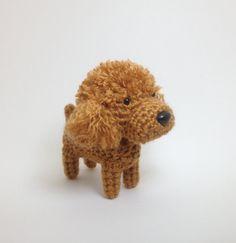 I just think he's a cute little guy. Poodle Amigurumi Dog Handmade Crochet Puppy Stuffed by Inugurumi, $27.00