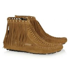 Jimmy Choo Zampa suede moccasin ankle boots