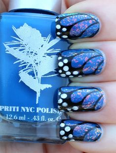 Best Butterfly Wing Nails art  | See more nail designs at http://www.nailsss.com/nail-styles-2014/