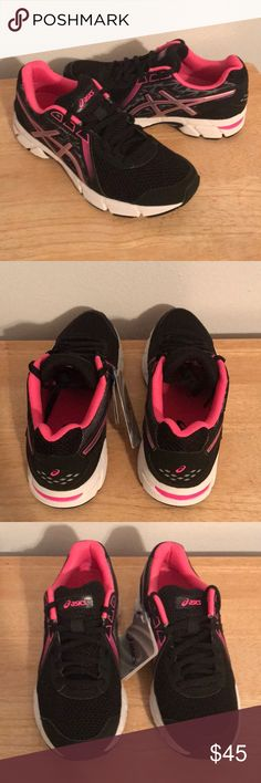 ASICS Impression 8 Sneakers NWT ASICS  Black, silver, and pink glow Asics Shoes Athletic Shoes