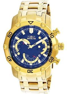 401ccd61869 Invicta Pro Diver 22767 Gold Tone Chronograph Bracelet Watch