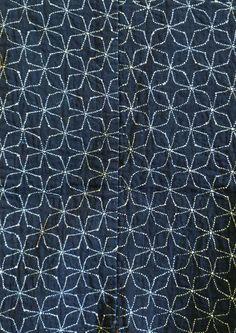sashiko stitched maekake