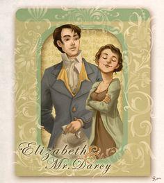 Pride n' Prejudice: Liz+Darcy by *flominowa on deviantART http://flominowa.deviantart.com/