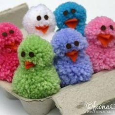 Pom Pom Chicks {Easter Crafts}  Carter: I want to make those