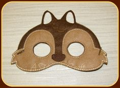 Chipmunk Mask Woodland Animal Costume - Dress Up - Fancy Dress - Party Mask Pretend Play