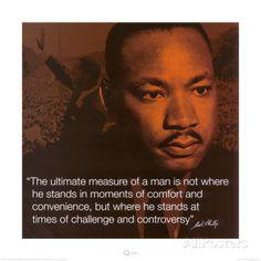 Martin Luther King Jr., Maatstaf, Measure of a Man Kunstdruk