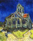 고흐 - 오베르의 교회    수업시간에 작품을 보자마자 우울한 느낌의 짙은 파랑색이 눈에 들어왔다. 고흐의 정신세계가 잘드러나있는 느낌이다.