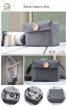 Denim Camera Bag