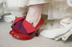 Shoes and tattoo. by creepingminx, via Flickr {use the mark and corinne tutorial on threadbanger to make these?!}