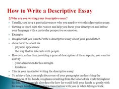 How to write descriptive essay – Help in writing an essay 2018 Essay Writing Examples, Writing Topics, Art Essay, Narrative Essay, Writing Lesson Plans, Writing Lessons, Homework Online, Love Essay, Ppt