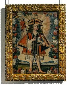 Pintura cuzqueña Colonial Art, Spanish Colonial, Infant, Frames, Paintings, Saints, Pintura, Art, Altars